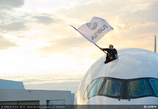 Moments before the first Airbus A350 flight [Photo: Airbus]