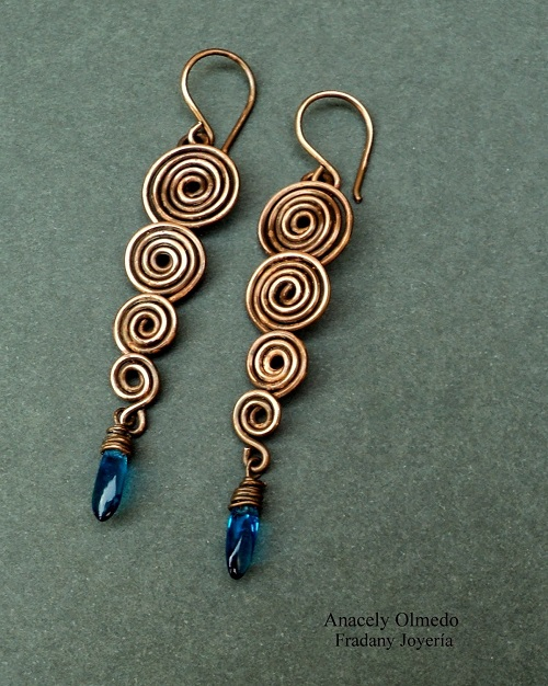 Spiral Wire Work Earrings Tutorial