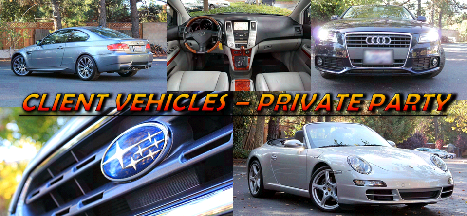 Client Vehicles - PRIVATE PARTY