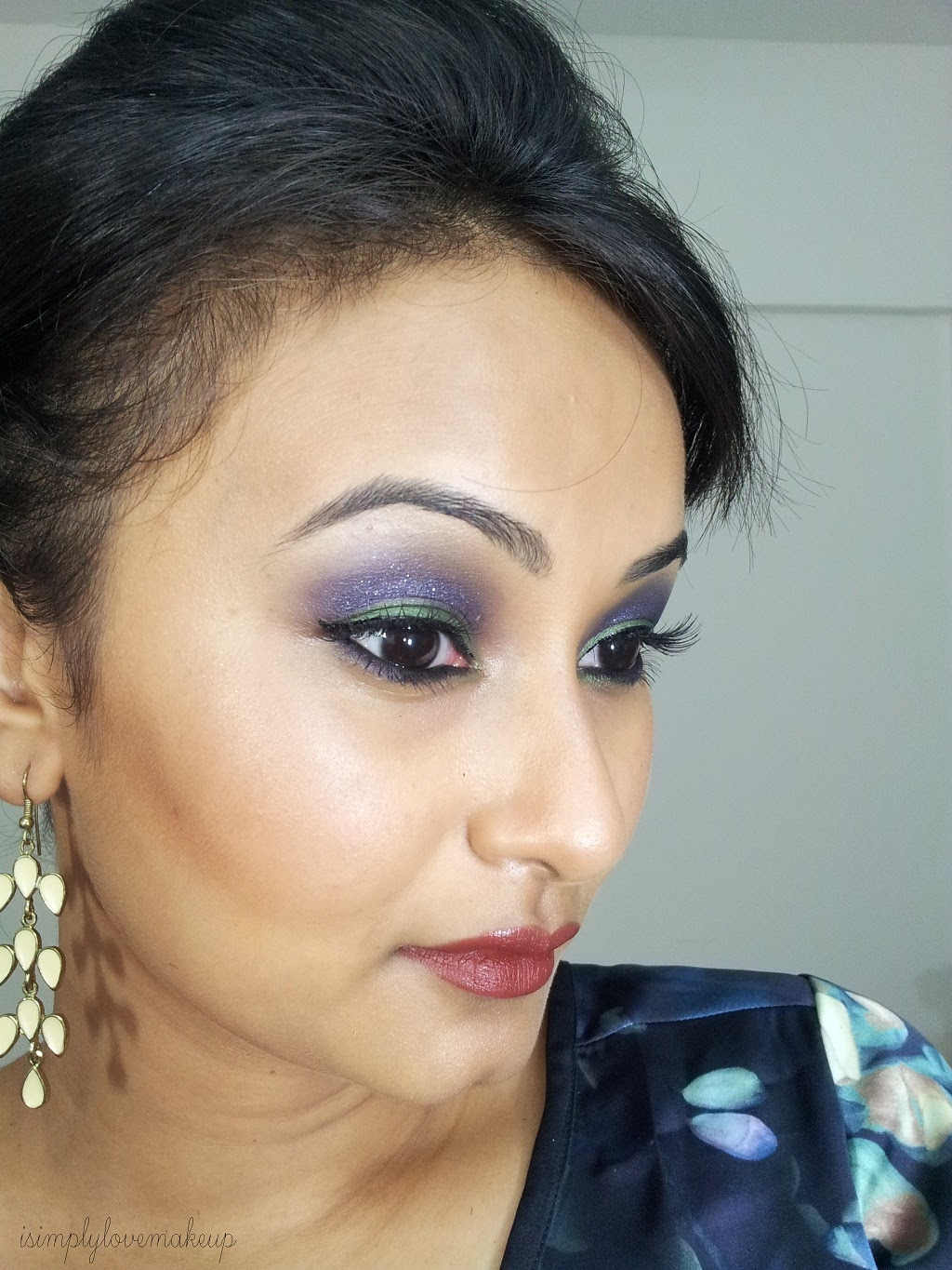 Makeup With Brown Lipstick, Indian Skin