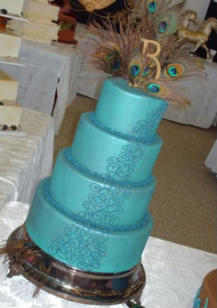 Special Peacock Wedding Cake Topper
