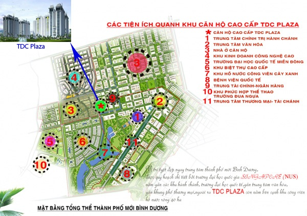 Vị trí căn hộ TDC Plaza, vi tri can ho tdc plaza