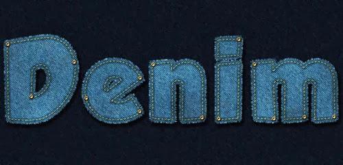 Denim Jeans Text Effect