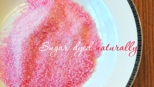 naturally dyed sugar