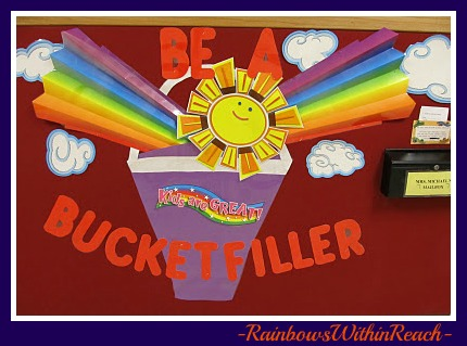 photo of: Bucket Filler Bulletin Board (from Bulletin Board RoundUP via RainbowsWithinReach) 