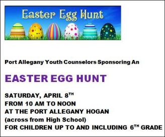 4-8 Easter Egg Hunt Port Allegany Hogan
