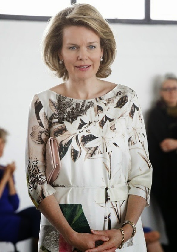 Queen Mathilde Visited The Contemporary Art Center In Brussels