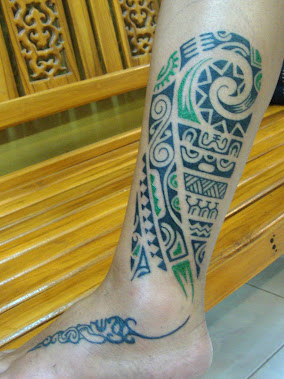 polynesian with color tattoo thailand