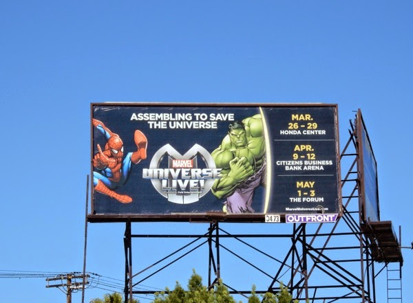 Marvel Universe Live billboard