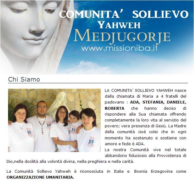 LA COMUNITA' SOLLIEVO YAHWEH