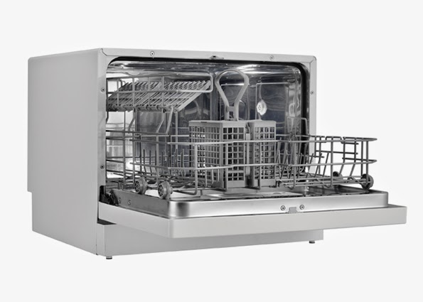 Danby portable dishwasher white reviews ddw1899wp 1 ddw611wled for White dishwasher with stainless steel interior