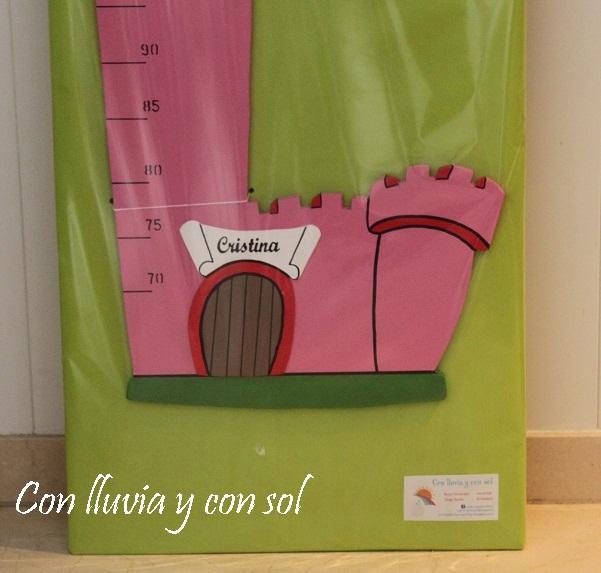 Con lluvia y con sol medidor infantil para la princesa - Medidor infantil madera ...