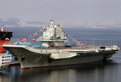 Kapal pengangkut pesawat pertama China mula beroperasi