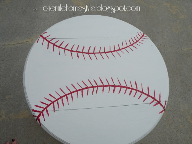 Baseball accent table