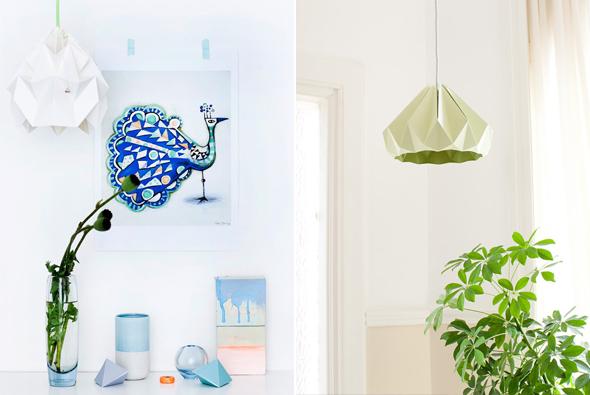 tendance lampe origami Studio Snowpuppe