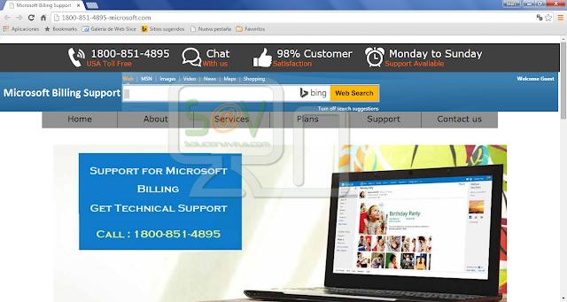 1800-851-4895-microsoft.com pop-ups (Falso soporte)