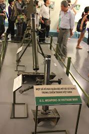 Muestra de morteros de la guerra de Vietnam