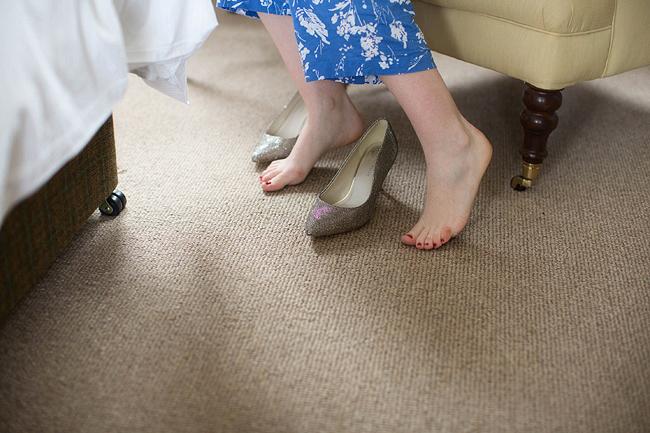 Wedding Photography Doonbeg Ireland, glitter shoes