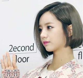 model rambut pendek wanita asia quick side swept straight
