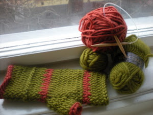 Big felted Basic Mitts