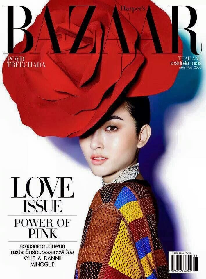 Actress, model: Poyd Treechada for Harper's Bazaar Thailand