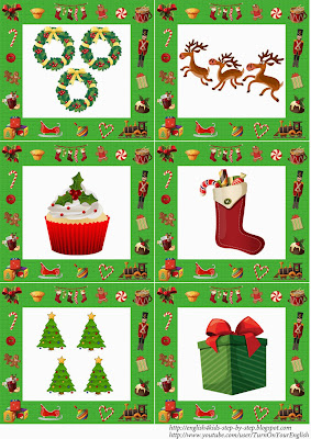 esl for kids christmas flashcards