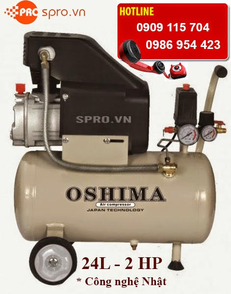 Máy bơm hơi - Máy nén khí mini 2hp OSHIMA 24 lít