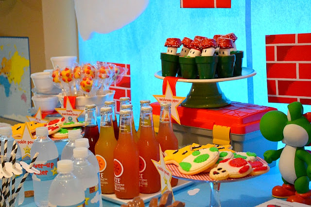Mario party dessert table
