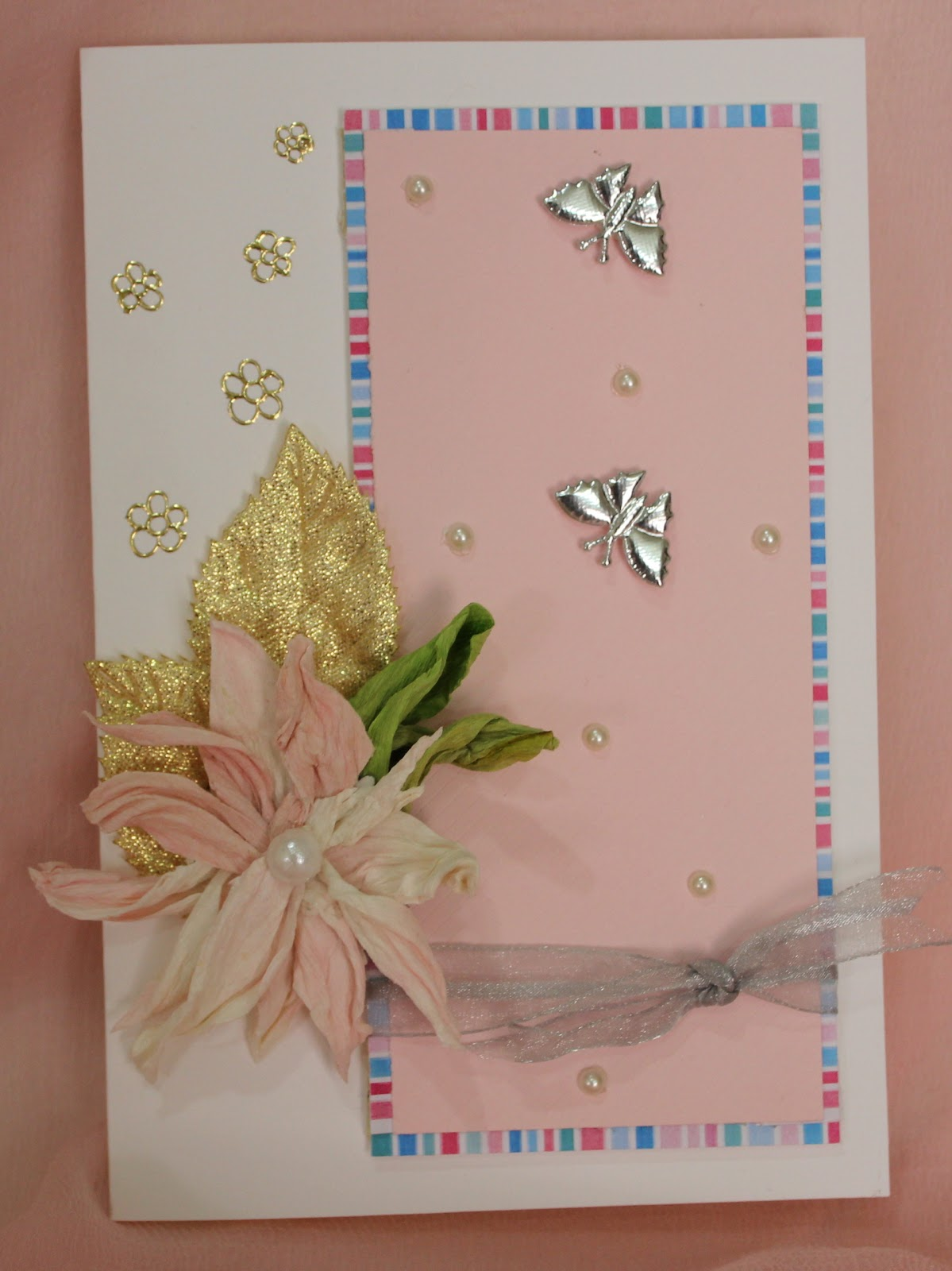 Duplex paper flower card ribbons to pastas with the icrs challenges i am getting back my hands on cardswhich i gave up long agois particular challenge is based on a photo inspiration mightylinksfo