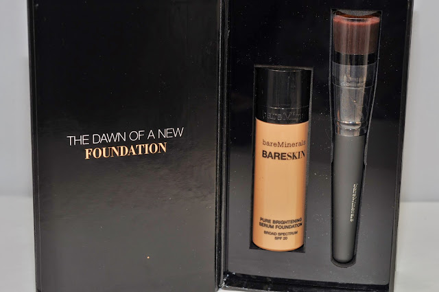 bareMinerals BareSkin Pure Brightening Serum Foundation with the Perfecting Face Brush