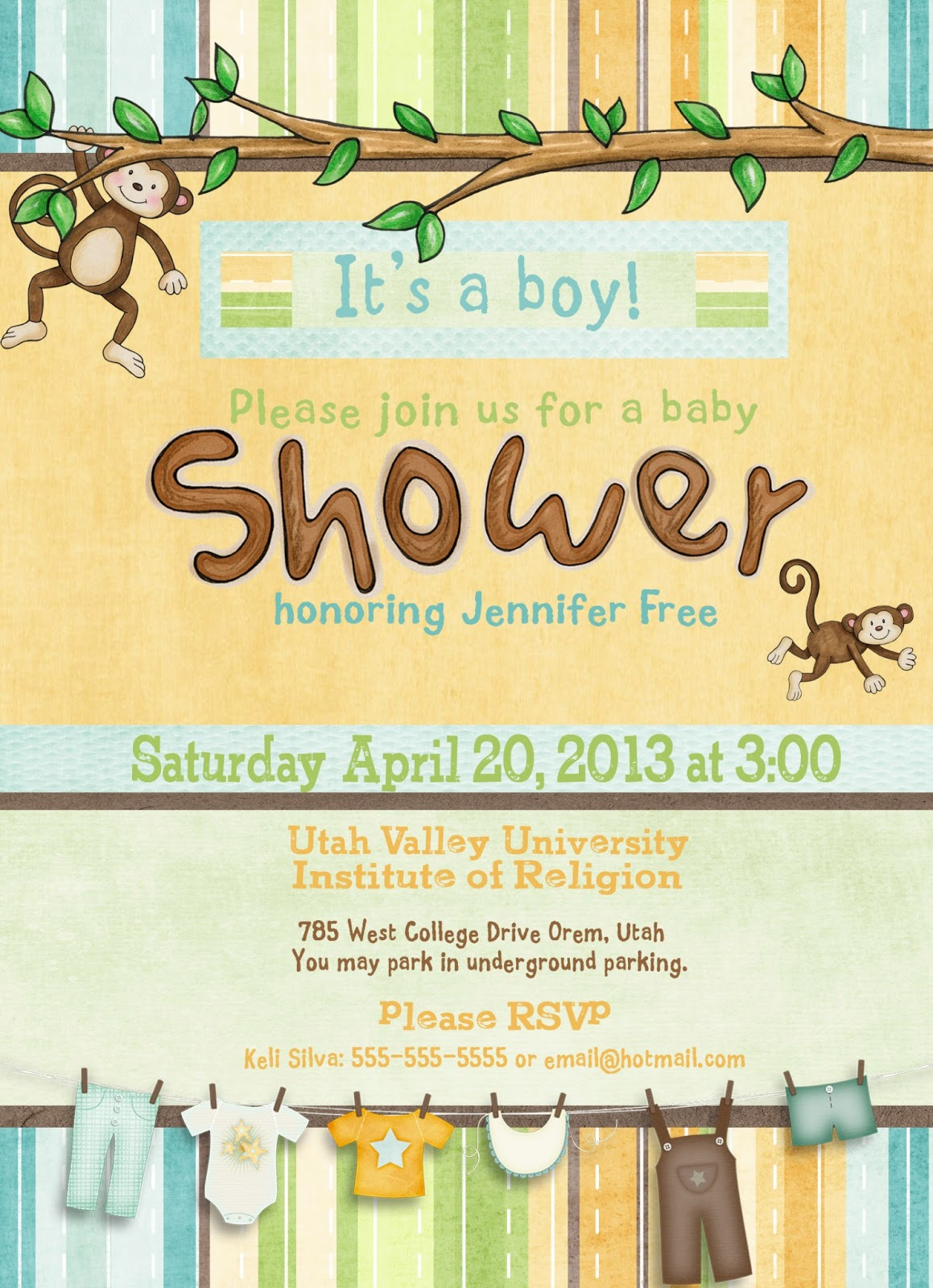 Embracing Life's Adventures: My Little Monkey Baby Shower