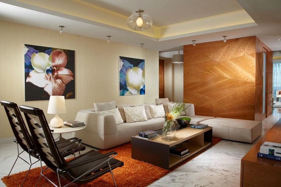 interior ruang tamu rumah type 45