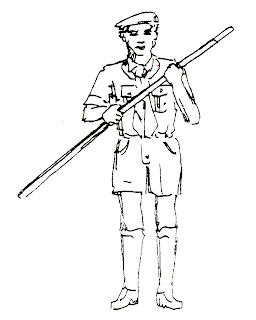 Peraturan baris berbaris pramuka menggunakan tongkat