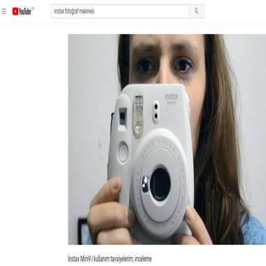 youtube com - instax fotoğraf makinesi