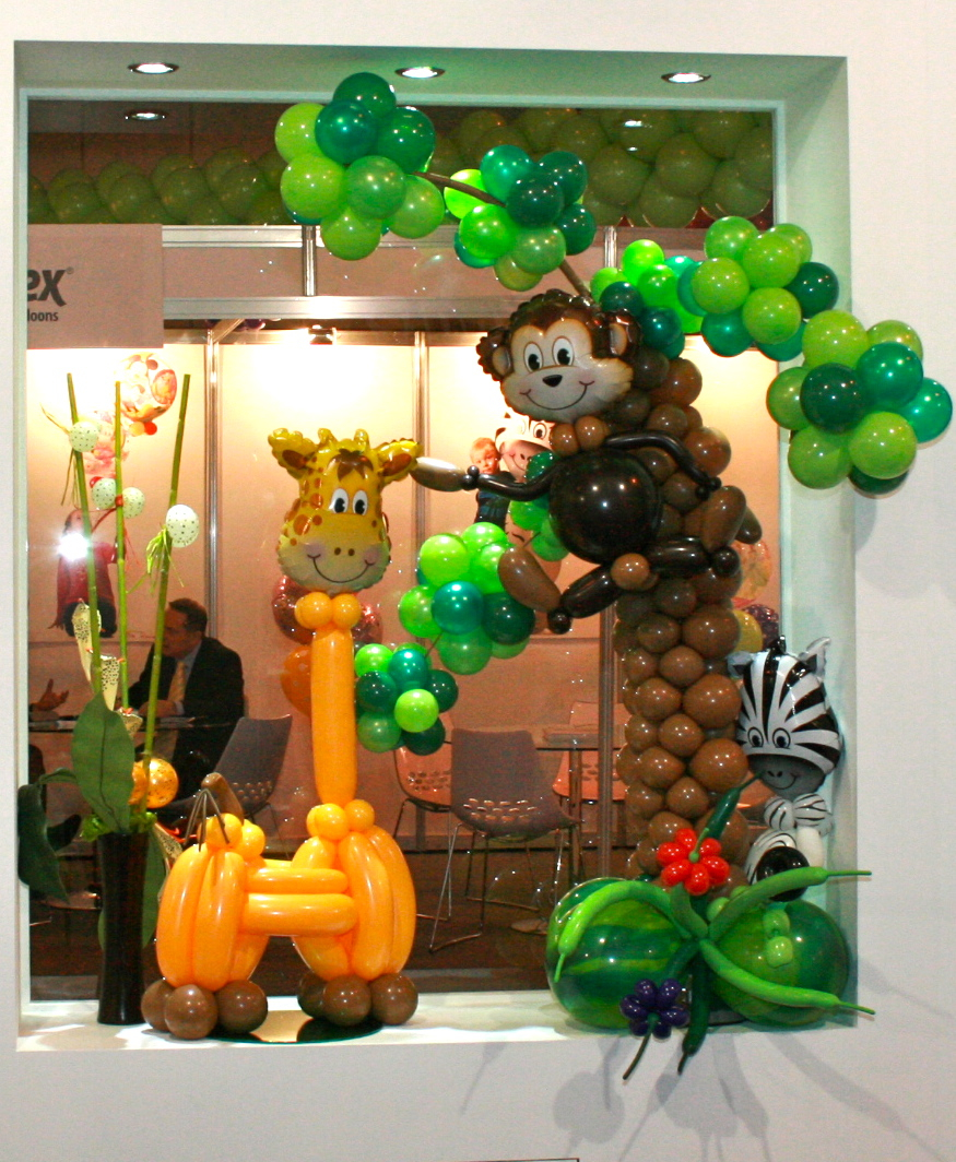 The very best balloon blog animal magic some great for Animal party decoration