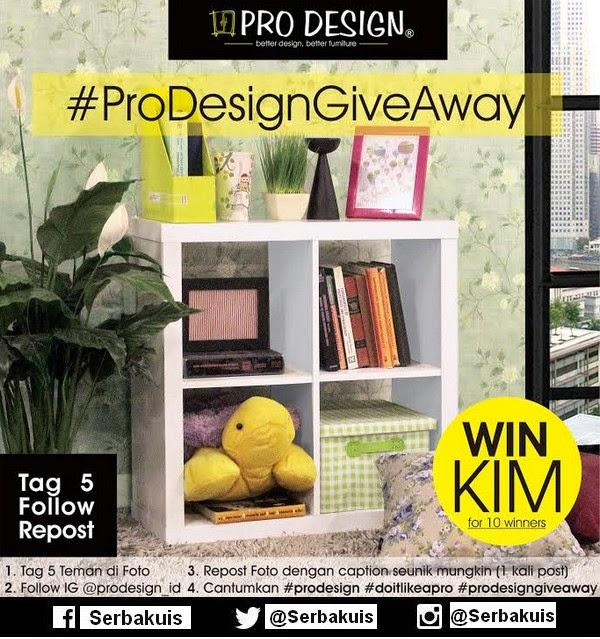 Prodesign Instagram Giveaway Berhadiah 10 Rak KIM