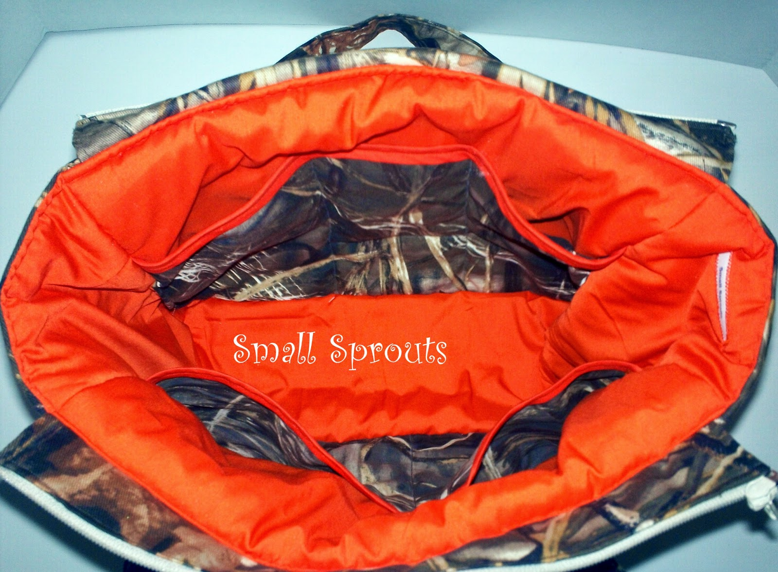 Small Sprouts: Aden Fancy Camo Diaper Bag