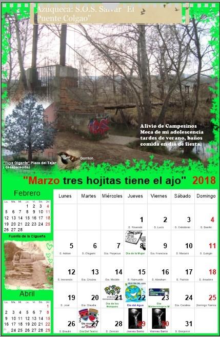 """""""Marzo tres hojitas tiene el ajo"""""""