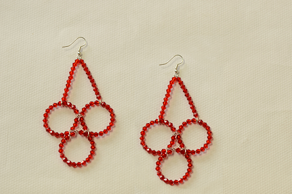Now This Pair Of Beaded Dangling Earrings Is Finished How Do You Think Them The Beads Design Easily