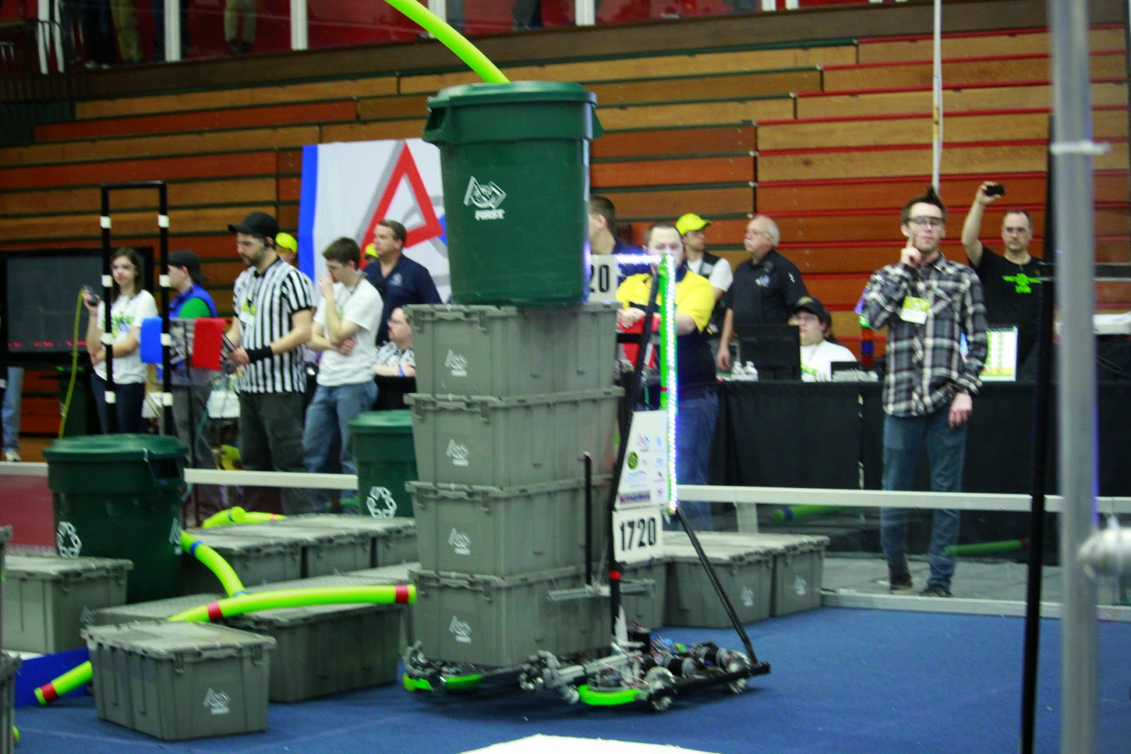 FIRST Team 1720 Recycle RUSH Kokomo competition