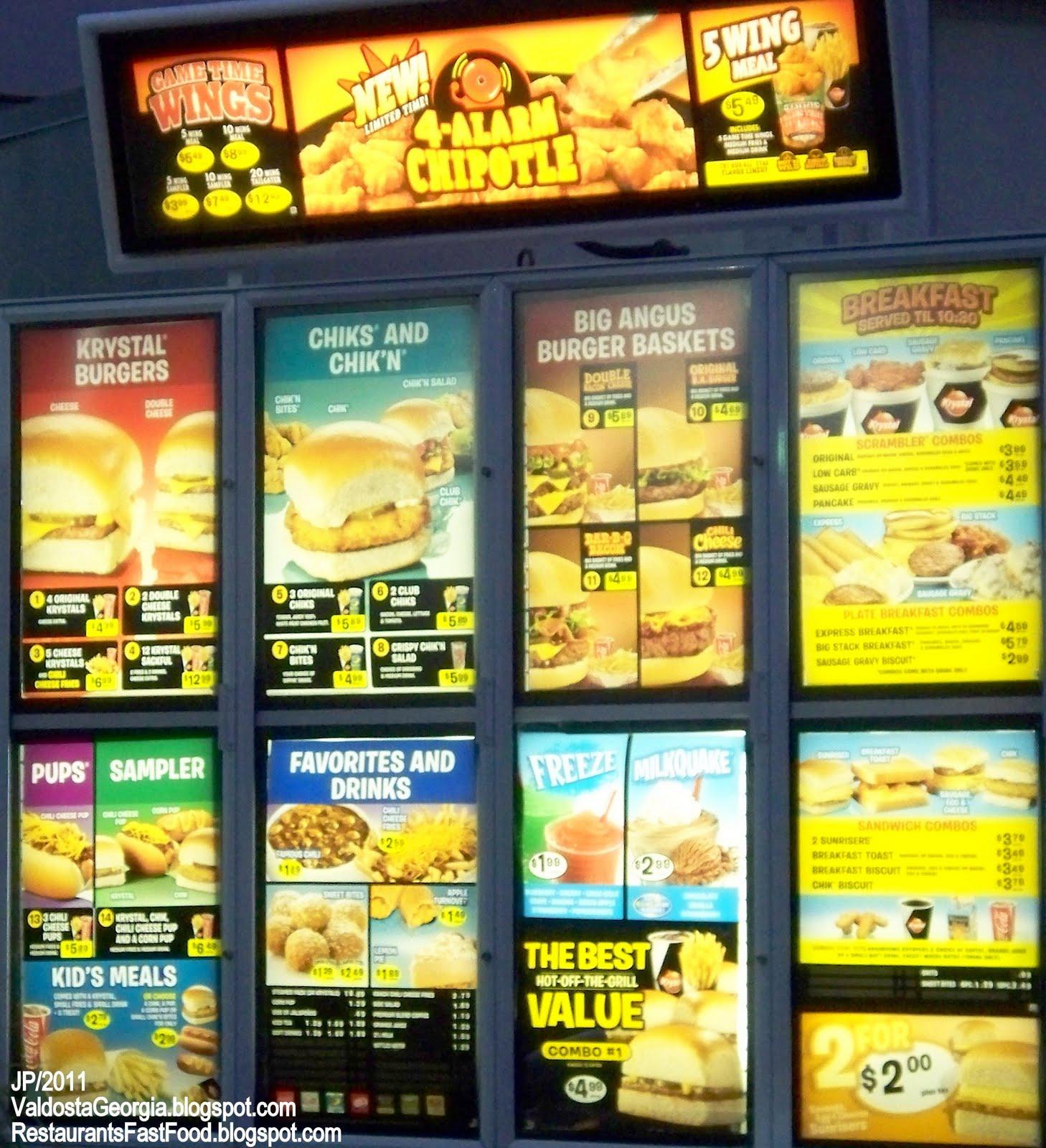 Fast Food Restaurants Valdosta Ga