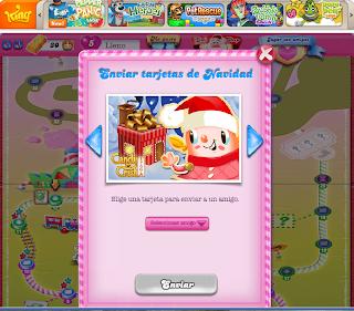 Tarjetas Navideñas en el Candy Crush Saga