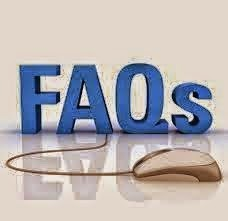 FAQs in big three dimensional blue letters, with a computer mouse