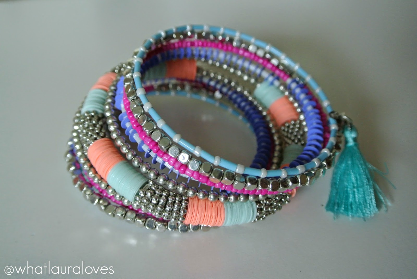 Primark Pastel Layering Bracelets