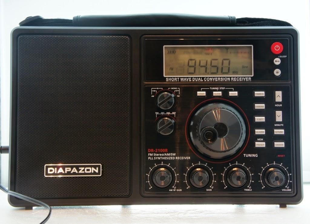 Цифровой переносной радиоприемник Diapazon DR-2100R с мощным звуком и расширенным диапазоном УКВ