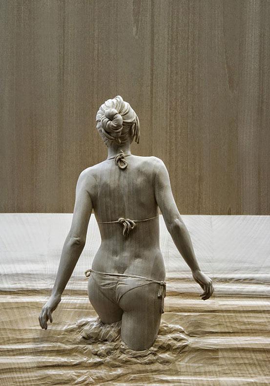 Increíbles figuras de madera talladas a mano parecen tener vida