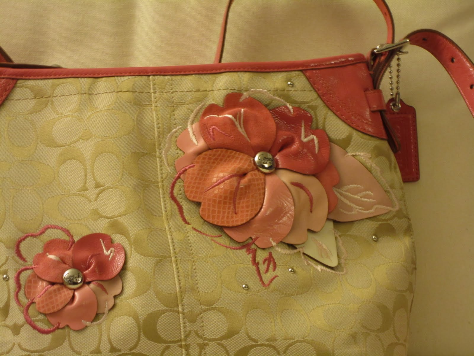 I buy you buy i saved you saved!: coach signature floral applique