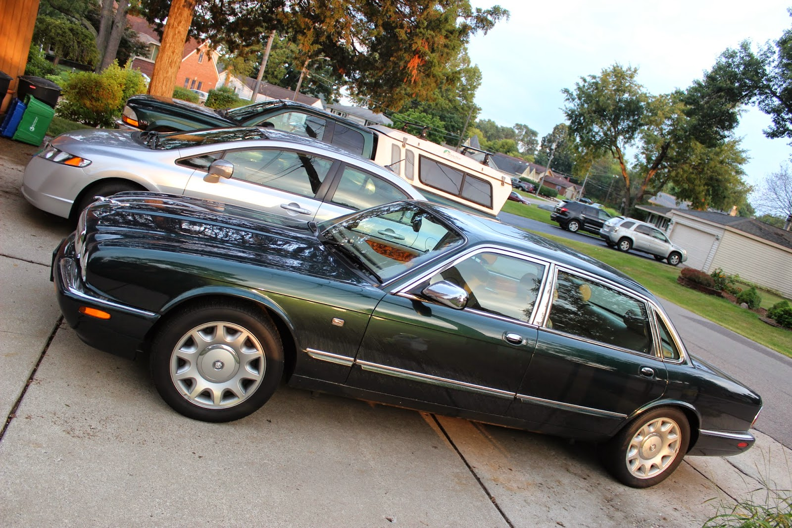 i reckoned i d share a few photos of the newest member of our own automotive fleet a 1999 jaguar xj8 vanden plas supercharged saloon