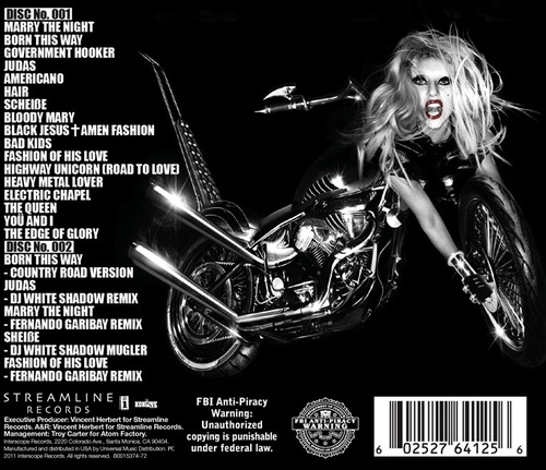 lady gaga born this way special edition cd. Not just any cd, the SPECIAL