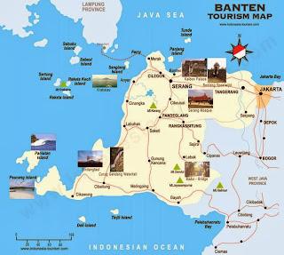 Peta Wisata dan Rute Objek Wisata Banten